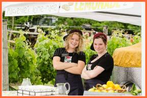Into Ata Rangi again ad Mackenzie Paton with friends manning her popular lemonade stand