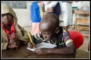 Arop Moses in ABC Nursery School, Rackoko.