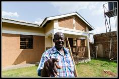 Acaye Terence (Uncle) at his home and orphanage in Kitgum.