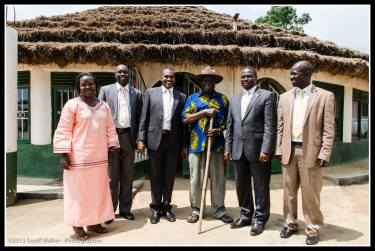 Mr Odidia with the Cabinet Minister and other guests.