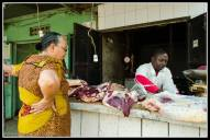 Butchers in Kampala with my friend Julianna.