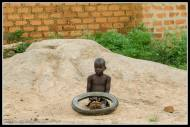 Tyres are common play things for kids in Africa.