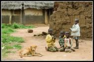 Kids in the IDP Camp in Rackoko.