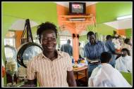 Hairdressers in Gulu where the haircut with massage, etc cost $3.50