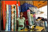 Gulu shopkeeper where I purchsed some plastic chairs