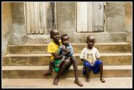The family kids in Kampala.