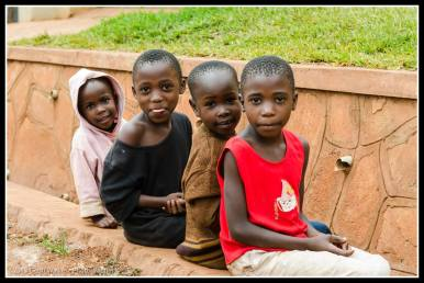 Walking from Bukoto to Ntinda to use the Bank I passed these kids....
