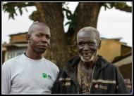 Ojok Phillips with an old friend - Rackoko Trading centre