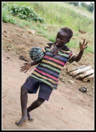 Football in the village - Rackoko Trading Centre