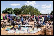 Market day in Awere town centre - once a month