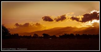 Sunset on the Tararua Mountains here in the Wairarapa.