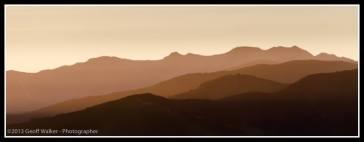 Sunset on the Tararua Mountains here in the Wairarapa.