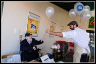 PnK People... Mr C. Kershaw playing with balloons.