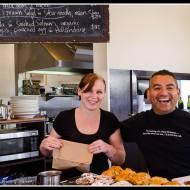 The team at Café Medici in Martinborough.