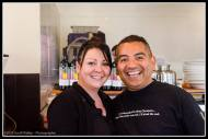 The team at Café Medici in Martinborough.