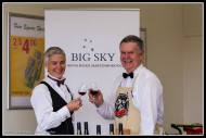 PnK People... Mr Kershaw toast the day with Big Sky wine..