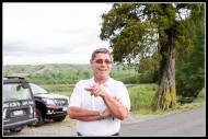 Peter Rewi points out the ....... at Papawai