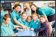 Pirinoa School kids and Fonterra milk in schools