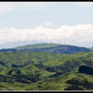 Looking west towards the Haunui wind farm from near Tora