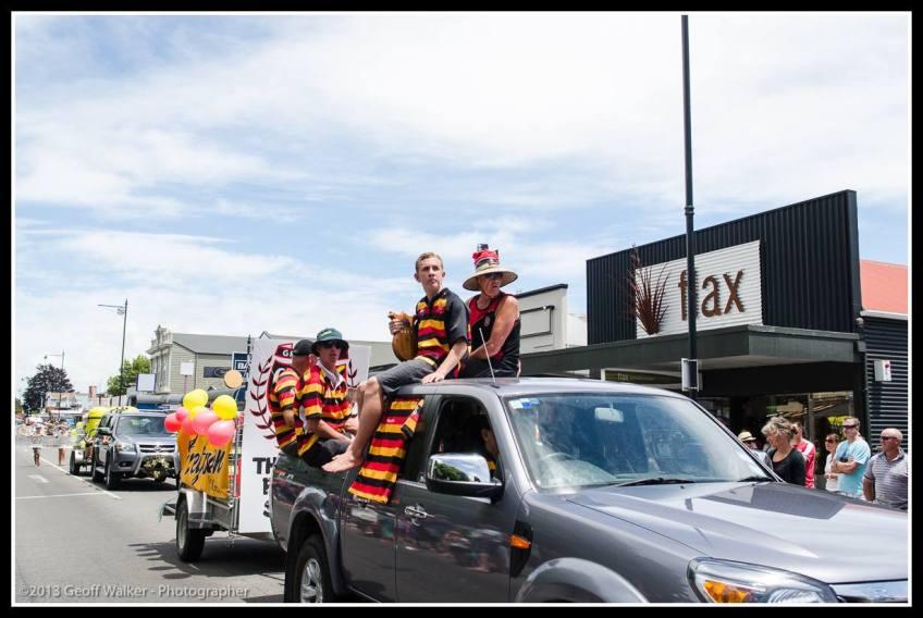 Greytown Xmas Parade - champion Greytown RFC.