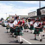 Greytown Xmas Parade - with the traditional pipe band.