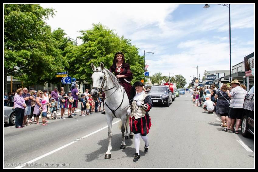 Greytown Xmas Parade - the Mayor and Councillor Solitaire.
