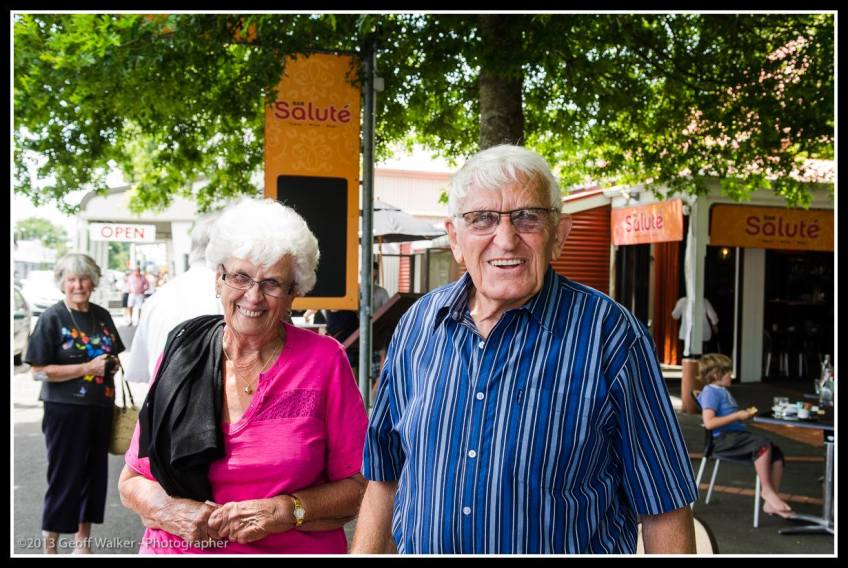 Greytown Xmas Parade - and the Hutchings out with their smiles...