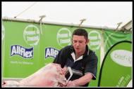 Gavin hacks into the lamb..