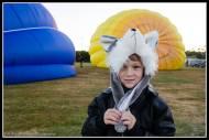 Young boy Ollie at fiesta, Carrington Park, Carterton.
