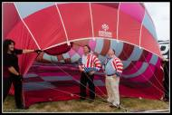 Patriot (the space shuttle) balloon pilot Barry and one of his crew checking out Miz Waikato