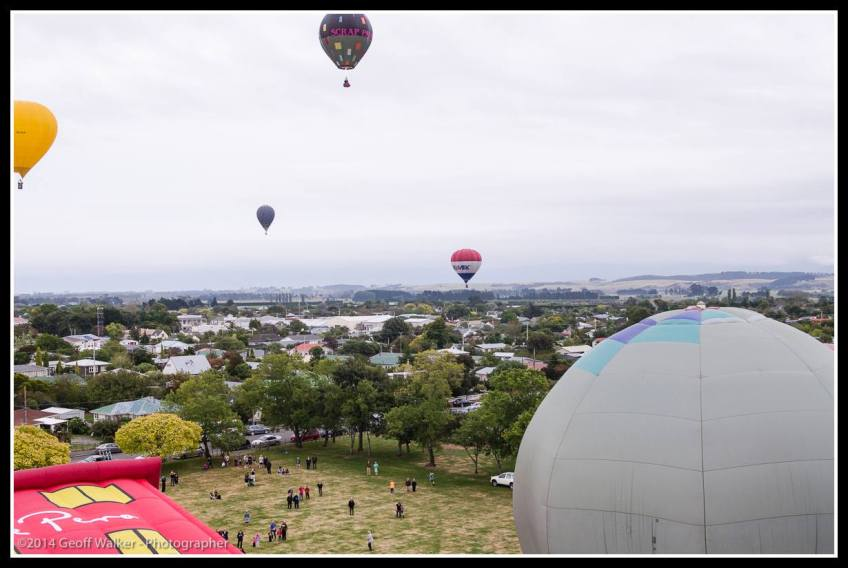 The view of Martinborough becomes apparent.