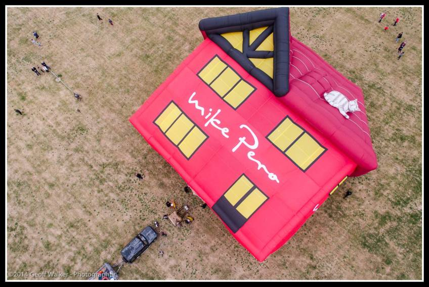 Fly over the house