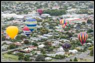 Lots of balloons over town