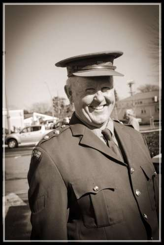 General John Mabey ready to parade...